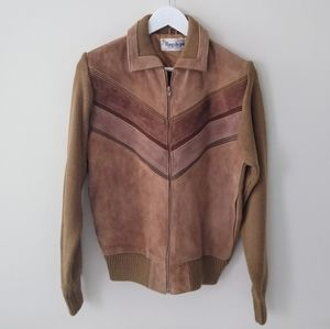 Vintage Repage brown leather jacket small